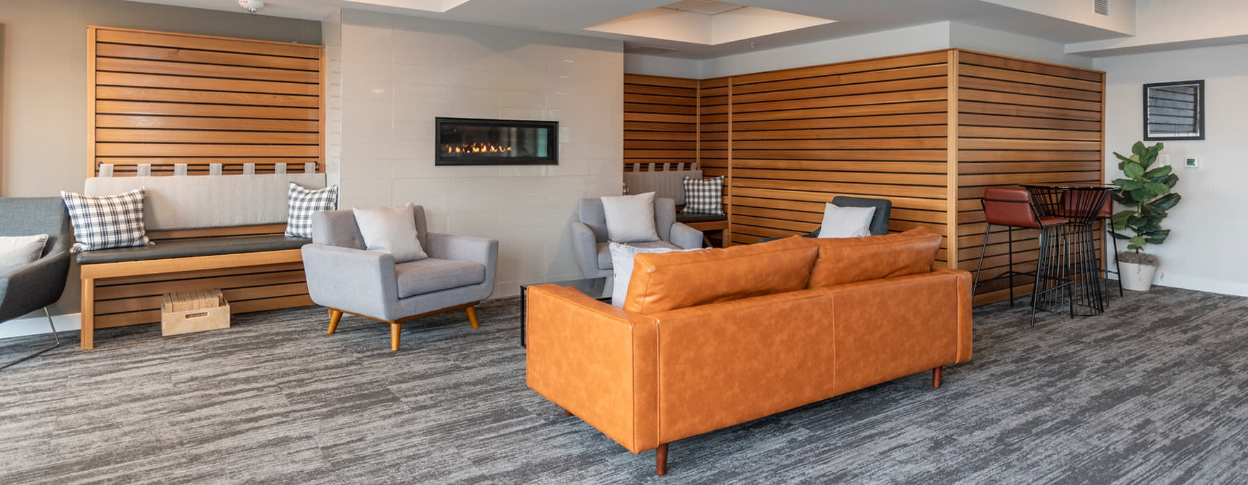luxurious lounge seating areas